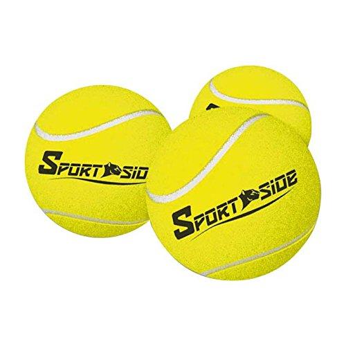 SPORT SIDE Jaune SPORTSIDE – Balles de Tennis 041903 – 6 cm – Jeu de Plein Air dès 36 Mois, 41903