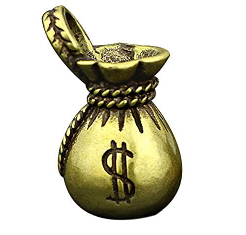 ZWWZ Vintage Kupfer Glückliche Dollar Geld Tasche Figuren Ornamente Schreibtisch Dekorationen Handgemachte Messing Auto Schlüsselanhänger Anhänger Wohnkultur Handwerk MISU