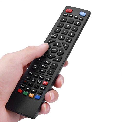 Smart-TV-Fernbedienung Geeignet für Alba Bush Technika Blaupunkt Scharf E-Motion Smart LED LCD-Fernseher Schwarz