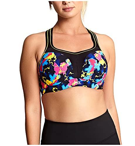Panache Women's Plus Size Underwired Sports Bra, Electric Print, 40GG