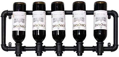 Estante de vino de metal moderno Estante de vino decorativo Estante de almacenamiento de vino Estante de almacenamiento de vino - Estante de vino montado en la pared, manualidades de decoración del ho