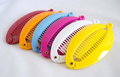 Pack de 6 Pinces peigne de 14 cm en couleurs assorties. envoi gratuit 72h