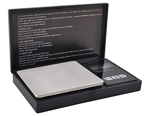 ISO TRADE Feinwaage Digital 5-Stellig Taschenwaage 500g/0,1g Beleuchtung Tare Abschaltung 2612