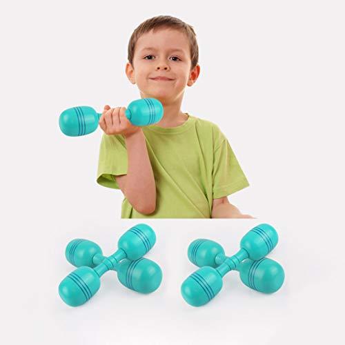Fulltime Hölzerne Fitness-Hantel für Kinder Kinder Jungen Jungen Mädchen Heimstudenten, 600 g, 100% sicher (Blau)