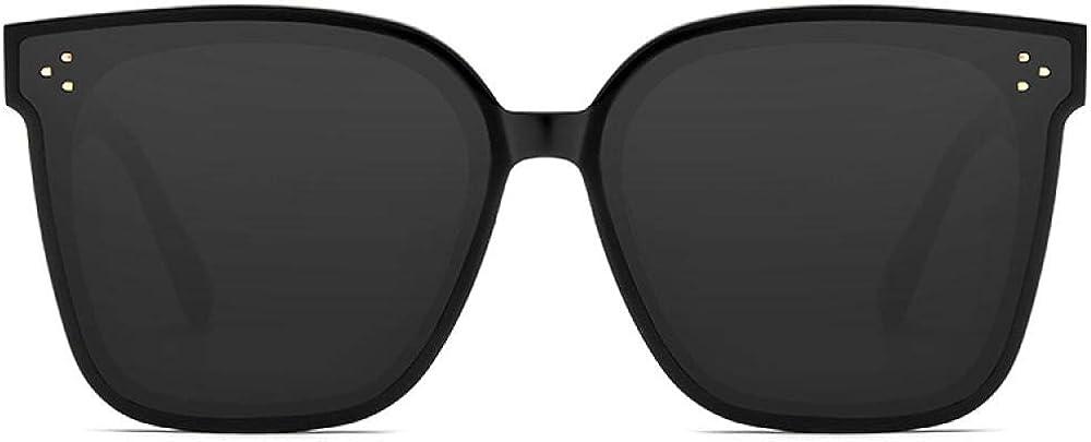 FIFY Lunettes de soleil femme lunettes de soleil hommes marée lunettes de protection UV net étoile rouge conduite ronde visage fabricants A