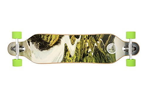 """Flybar 41"""" x 9.5"""" 9 Ply Canadian Maple Twin Tip Downhill Drop-through Longboard – ABEC 9 Bearings & 70mm 78A Wheels"""