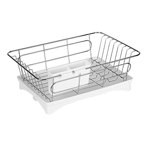 ZYL-YL Kitchen shelf Dish Drainer Rack Kitchen Stainless Steel Glass Cup Bowl Chopsticks Storage Drying Shelf With Drip Tray
