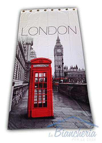 tex family Tenda Londra Inglese Telephone CM.140X280 CONFEZIONATA