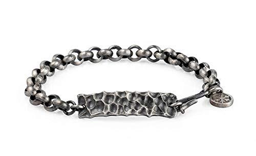 Hip Hop S925 Thaise zilveren schedel armband, Retro Punk jongen meisje paar armband verjaardagscadeau