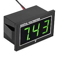 電圧計、電圧パネル、子供用バッテリー電圧を直接接続するのが簡単なテスト電圧(green, DC5-130V)
