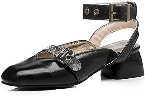 HBDLH Chaussures De Femme Rude Talons Baotou Faible Talon Sandales
