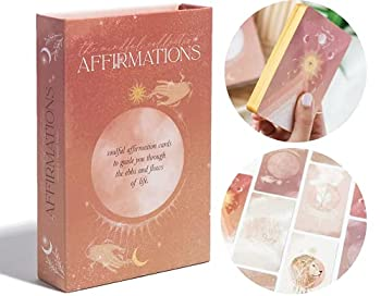 AFFIRMATION CARDS FOR WOMEN - 36 Positive Affirmations Cards Self Care Oracle Cards Daily Affirmation Cards Deck Meditation Journaling Manifestation Cards Inspiration Cards Self Care Gifts