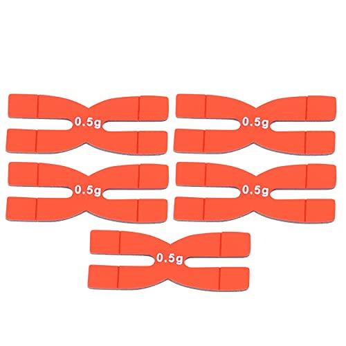 KASD 5 Piezas De Tiras De Equilibrio De Peso De Raqueta De Tenis, Cintas De Raqueta De Tenis con Peso De Raqueta De 0,5 G para Entrenamiento De Bádminton De Tenis(Rojo)