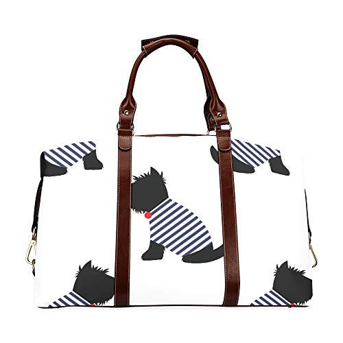 Bolso de Viaje al Aire Libre Scottish Terrier en una Camiseta de...