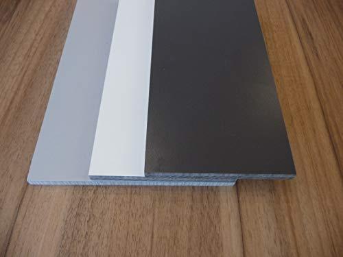 Alt-intech® HL gevelplaat, balkonplaat, verschillende maten en kleuren, inclusief accessoires Farbmuster Porselein wit