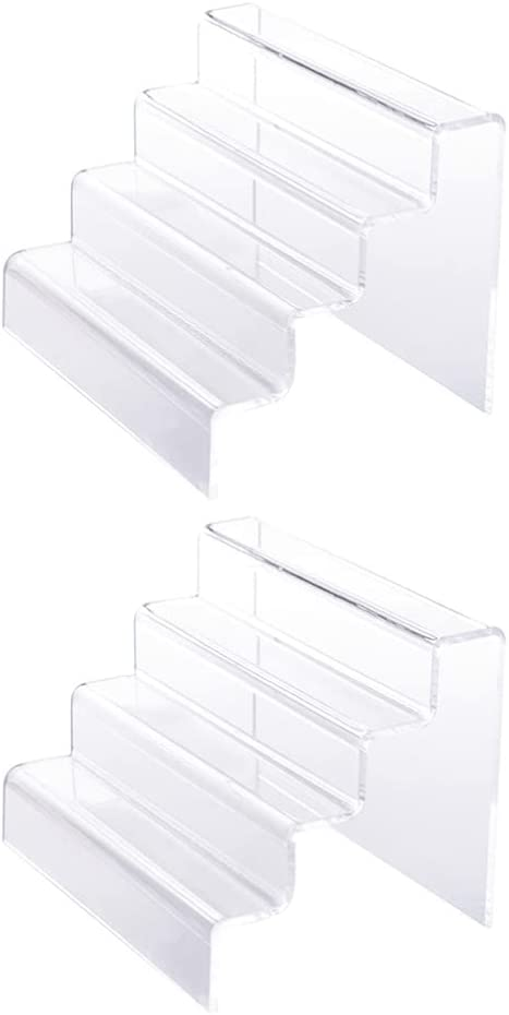 Milisten 2pcs Clear Acrylic Riser Display Displa Manufacturer regenerated product 100% quality warranty! Risers