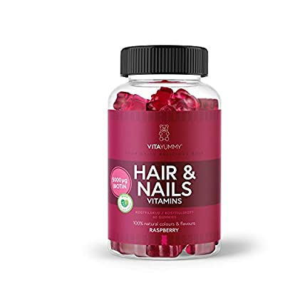 VITAYUMMY Gummy for hair and nails with natural color and flavor, 60 vegetarian gummies | 5000 mcg Biotin per serving | 1 Month Supply by BETTER NUTRITIONALS EMEA