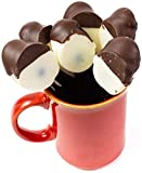 Hand Made in USA Amaretto Flavored Chocolate Dipped Spoons – Stir in Coffee (6 Count)