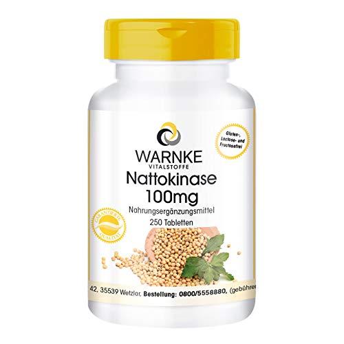 Nattokinase 100mg - 2000 FU - hochdosiert - vegan - 250 Tabletten