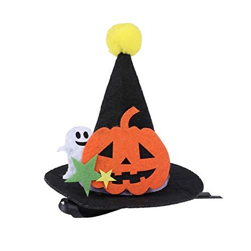 VILLCASE Disfraz de Halloween para mascotas y gatos, gorro de fiesta de calabaza, gorro para decoracin de mascotas y gatos