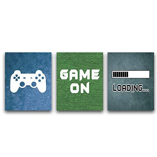 KAIRNE Gaming Poster| Bilder für Gamer, Videospiel Wand Bild |Game Leinwand| Wandkunst |für Jungen Teenager Schlafzimmer,Spielzimmer |Geschenk Dekor,Set von 3 (8
