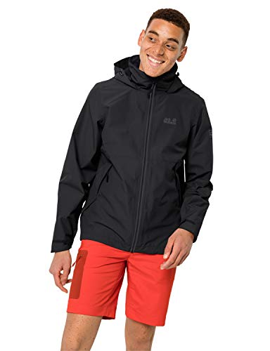 Jack Wolfskin Herren EVANDALE Jacket M Wetterschutzjacke, Black, M