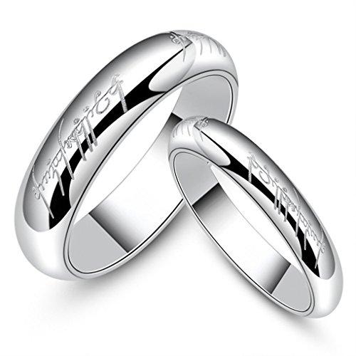 6mm dames heren letters gedrukte ring titanium stalen ringen mannen goud, trouwring draaien unisex sieraden