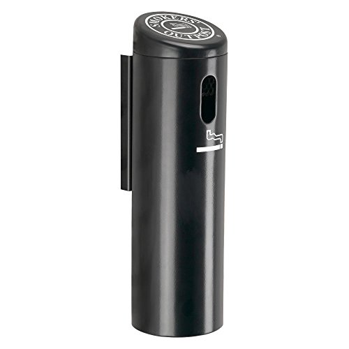 Commercial Zone Secured Wall Mounted Ashtray Outpost Swivel System Color: Black