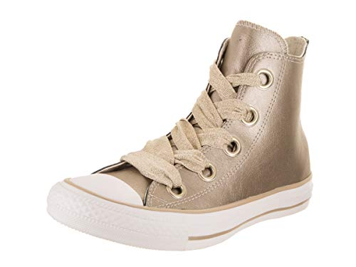Converse Damen Chuck Taylor CTAS Big Eyelets Hi Sneakers, Mehrfarbig (Metallic Gold/Gold/White 710), 36.5 EU