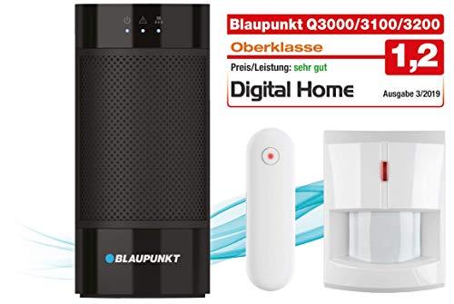Blaupunkt Smart Home Alarminstallatie Q3100 Starter Kit bestaande uit: IP-alarmcentrale, draadloze bewegingsmelder (IR-S4), draadloze deur/raamsensor (DC-S4) | compatibel met Alexa en Google Home