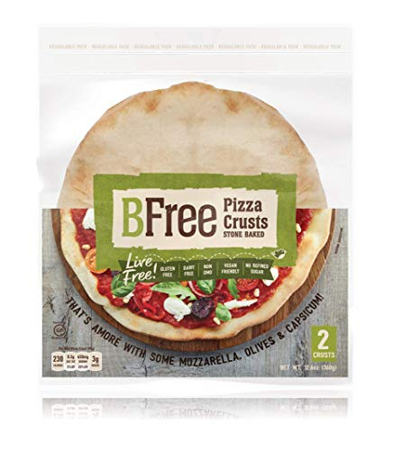 Stone Baked Pizza Crust by BFree Foods- Gluten Free Pizza Dough – Keto Pizza Crust – Includes 2 Pizza Bases, 12.6 Oz [1 Pack]