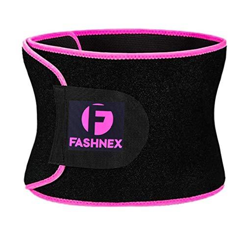 Fashnex Sweat Slim Belt Made of Neoprene for Women & Men - Hot Slimming & Sauna Waist Trimmer Belt for Stomach Sweat, Lower Back Support, Medium Size, 1 Piece(Pink)