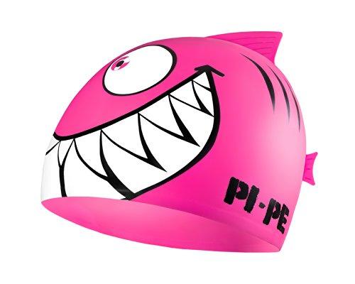 PI-PE Sharky - Cuffia da Piscina, per Bambini, Rosa (Rosa), Taglia Unica