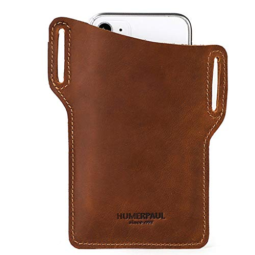 PING Vintage hombres teléfono celular Loop funda cinturón cintura bolsa accesorios cuero monedero teléfono, Kh.,