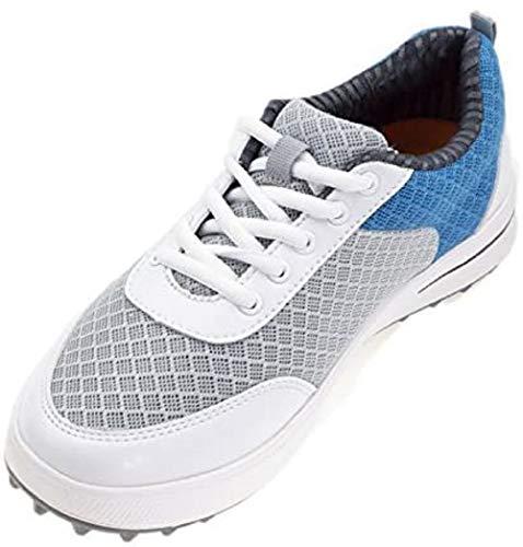PGM Golfschuhe für Mädchen, atmungsaktive leichte Sommerschuhe für Damen, Golfschuhe bieten Stil, Komfort und Leistung sowohl auf und abseits des Golfplatzes, 34 M EU / 4.5 B(M) US, Blau