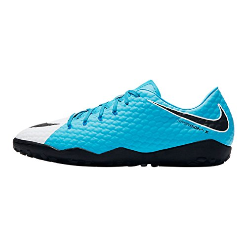 Nike Hypervenomx Phelon III TF Größe 39 EU Weiß (White/Black-Photo Blue-CHLORIN)