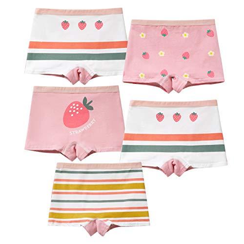 MiSense 5er Pack Mädchen Unterhosen Baumwolle Unterwäsche Maedchen Boxershorts für 2-11 Jahre(2-3 Jahre,A042-S)