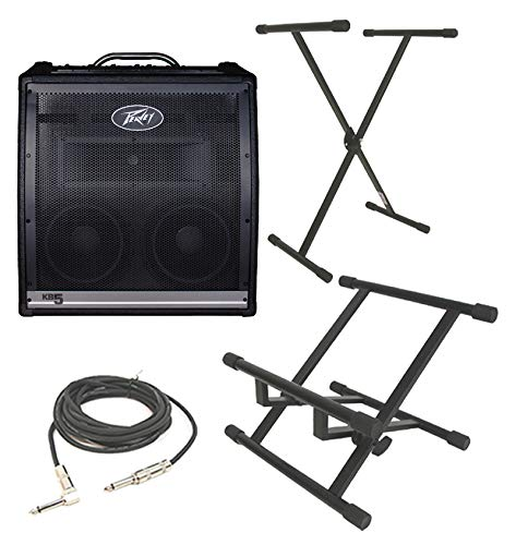 Great Price! Peavey KB5 Keyboard Combo 150 Watt 4CH Amp (2) 10″ Speakers with 1/4″ Cable, Amp Stand & X Brace Stand