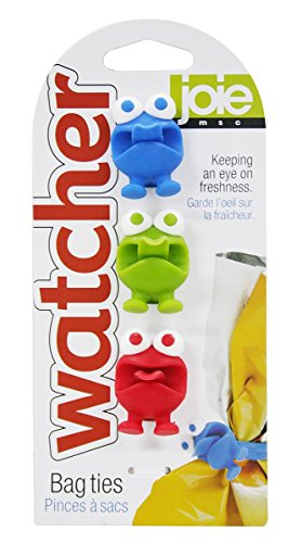 Joie Watchers Silicone Storage, Cable and Bag Ties, Set of 3
