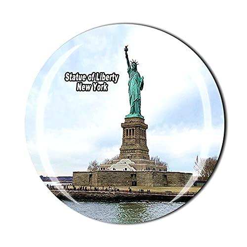 Imán para nevera con estatua de la libertad, regalo de recuerdo de viaje en 3D, cristal para decoración del hogar y la cocina