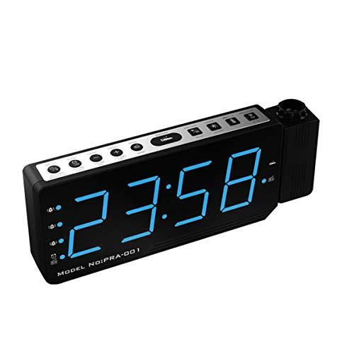 Reloj despertador con proyector LED digital de la temperatura de repetición de radio FM