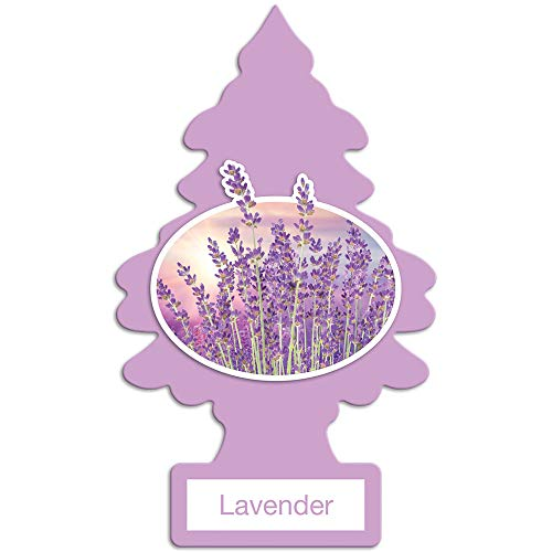 LITTLE TREES Car Air Freshener I Hanging Tree Provides Long Lasting Scent for Auto or Home I Lavender, 24 Count, (4) 6-Packs