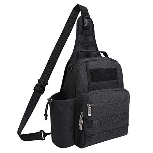 TAIBID Waterproof Sports Single Shoulder Fishing Tackle Bag Backpack or Handbag Crossbody Messenger Sling Bags for Camping Hiking Cycling Outdoors Sport