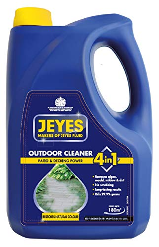 Jeyes 4-in-1 Patio and Decking Power, Outdoor Cleaner for Patios, Paths, Driveways, Stone & Concrete, 4 Litres