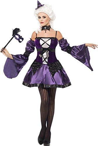 Smiffys, 25436, dames heksen maskerade kostuum, jurk, mouwen en hoed, maat: L