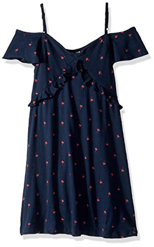 Roxy Girls' Big Bright Forest Flutter Sleeve Dress, Blues PALMITO, 8/S