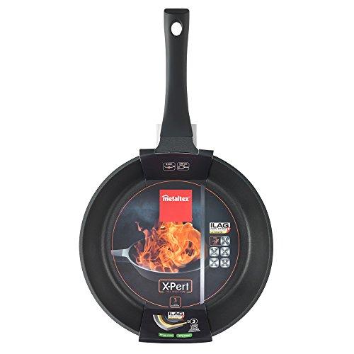 Metaltex XPERT - Sartén Aluminio Fundido, 28 cm, antiadherente 3 capas, Full Induction válido para todo tipo de cocinas