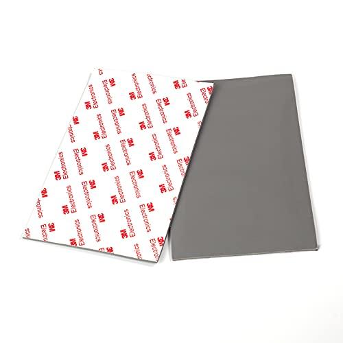 Luluxing 2 almohadillas antideslizantes de goma autoadhesivas, color gris, antideslizantes y protectores de suelo laminados de azulejos de madera dura