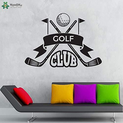 MRQXDP Muursticker Golf Club Citaten Muurstickers Kids Jongens Meisjes Tiener Slaapkamer Vinyl Decor Outdoor Sport Thuis Kunst 57x80cm Dorm Muursticker