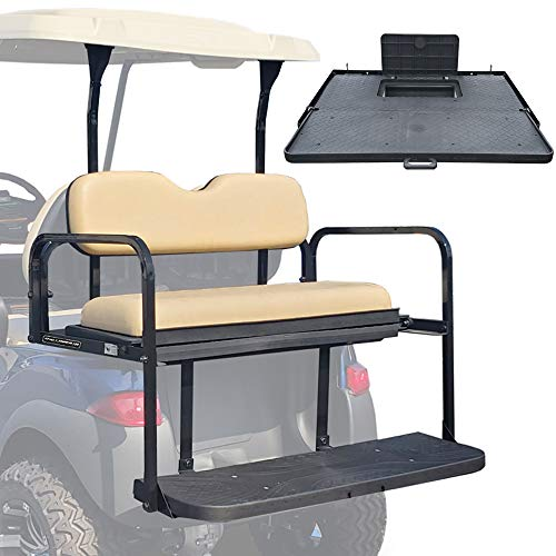 ProFormX Challenger SE Series Rear Flip Seat Club Car Precedent, Onward & Tempo with Buff Cushions